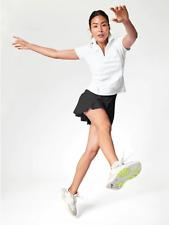 """NEW Athleta XL Black Match Point 13.5"""" Tennis Golf Skort Skirt 16"""