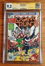 Logan's Run #1 CGC SS 9.2 (1977) Signed by Al Milgrom Cover Artist. Movie