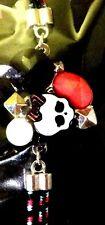 NEW! Monster High Skullette Skull Pink Black White Gem Double Band Bracelet RARE