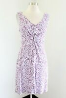 Soma Gray White Pink Spotted Print Dress Size S Casual Lounge Soft Sleeveless