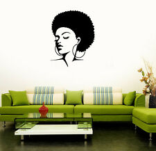 Wall Stickers Vinyl Decal Black Lady Barber Face Hot Sexy Hair Salon (ig1633)