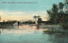 C.1910 The Outlet of Seneca Lake, Geneva, N.Y. Postcard P126