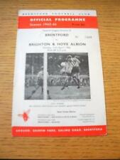 11/04/1966 Brentford v Brighton And Hove Albion  (Creased & Folded). No obvious
