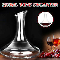 1500ML Luxurious Glass Crystal Wine Decanter Elegant Pourer Red Wine Carafe Home