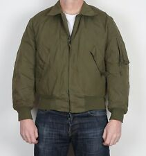 """Flyers Cold Weather Bomber Jacket Medium 38"""" 40"""" Green 1989 (13A )"""