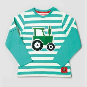 Striped Applique, Long-Sleeve - Teal (1-6 years)