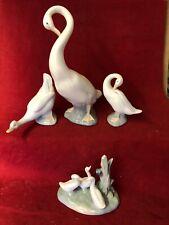 lladro  Nao Job Lot Of 4 Ducks And Geese Figurine
