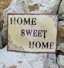 Blechschild Antiklook Sweet Home Retro Haustür Türeingang Deko Türschild 25x33cm