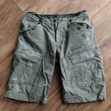 G Star RAW DENIM Camo Cargo Shorts Size Large34w