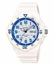 MRW-200HC-7B2 Black White Casio Men's Watch 100M Date Day Display Black Analog