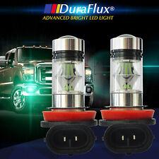 DuraFlux H11 H8 Samsung LED Fog Driving Light Bulbs 100W 8000K Ice Blue 12V US