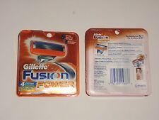 New Gillette Fusion Power Men's Razor Blade Refills 4 Count 5 Blade Shaving