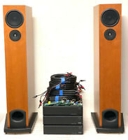 Linn AV 5140 Speakers + LK140 Power Amplifier Trio & Aktiv Cards, 40' Tri-Wire