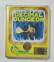 Decimal Dungeon IBM and Tandy 3.5 Disk- NEW RARE