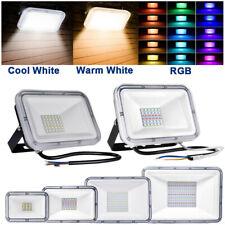 RGB LED Flood Light 30W 50W 100W Outdoor Landscape Garden Walkway Spotlight Lamp