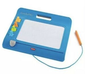 Fisher-Price DoodlePRO Slim Blue Toy Play Magnetic Stamps Magnetic Pen New
