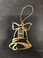 Vintage Brass Metal 1995 Usa Today Bell Ornament