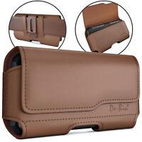 De-Bin Belt Case Phone Pouch Phone Holster Belt Clip iPhone 6/ 6s/ 7/8 Brown