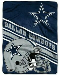 "Dallas Cowboys NFL Royal Plush Raschel Super Soft Throw Blanket 60""x 80"""