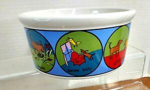 "Ursula Dodge (Signature Stoneware) ""It's a Dog's Life 6"" x 3"" Food Water Bowl"