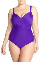 NWOT ultra violet Sanibel Miraclesuit swimsuit 16