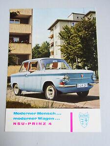 NSU Prince 4: Reklame-Ak, Postal Used May 1962 /Rare/ Advertising, Car