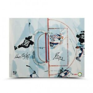 "Wayne Gretzky Grant Fuhr Signed Autographed 16X20 Photo ""Aerial Assault"" /75 UDA"