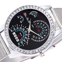 Luxury Unisex Women Men Quartz Stainless Steel Crystal Diamonds Boys Wrist Watch