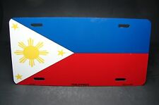 PHILIPPINES FLAG METAL NOVELTY LICENSE PLATE TAG FOR CARS PILIPINAS