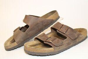 Birkenstock Mens Size 11 44 Arizona Soft Foot Leather Slides Germany Made Shoes