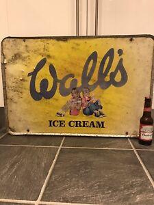 Aluminium Vintage n0T Enamel Sign Ice Cream Old Advertising Original Shop