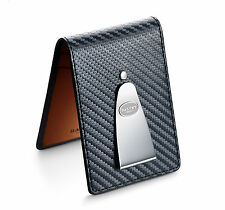 Dalvey Black & Orange Leather Insignia Credit Card and Money Clip (03257)