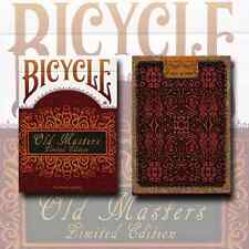 OLD MASTERS BICYCLE DECK OF PLAYING CARDS NUMBERED LIMITED EDITION MAGIC TRICKS