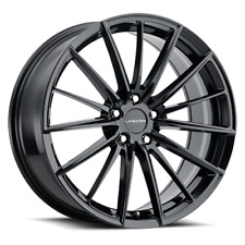 New Listing18x8 4 Wheels Rims 5x1143 Vision 473 Axis 18 Inch 38mm Gloss Black Fits Camry
