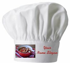 PRINTED CHEFS HAT PERSONALISED FREE SAUSAGE CASSOROLE