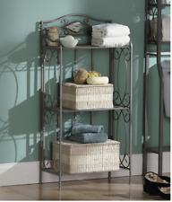 Alexander 3-Tier Rack Shelves Bathroom Toiletries Bath Towels Storage Decorative