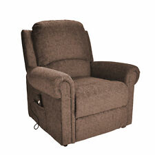 Tetbury Single Motor Electric Riser and Recliner Lift Chair 23st Limit EX Demo Nut Brown