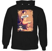 Rebel Hoodie Mens Funny Inspired Pricess Leia Parody TEE TOP