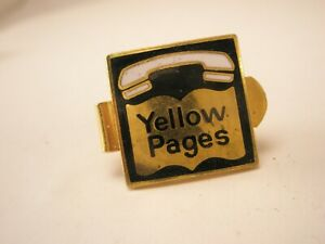 -Yellow Pages TINY SMALL Vintage Tie Bar Clip