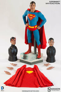SIDESHOW SUPERMAN DC COMIC VERSION MOS ACTION FIGURE 1/6 SCALE 12 IN NEW  U.S.