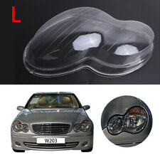 Left Headlight Lens Shell Plastic Cover for Mercedes Benz W203 C-Class 2001-2007