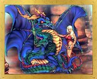 Gothic Dragon Fantasy Kids Room Wall Decor Framed Picture Art Print (18x22)