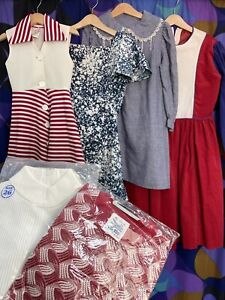 Vintage Kids Children's Clothes Bundle Joblot x 6 Laura Ashley Dress 60s 70s 80s