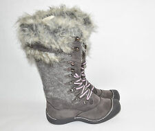Muk luk 'Gwen' Tall Snow Boot Faux Fur and S Grey Marl Size 8