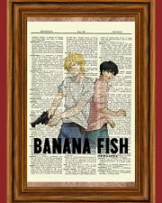 Banana Fish Dictionary Art Print Picture Poster Anime Ash Linx and Eiji