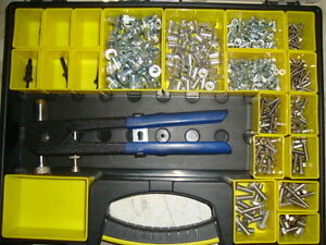 NUTSERTS (RIVNUTS) TOOL KIT M4 - M8 INCLUDES STEEL RIVNUTS & STAINLESS BOLTS