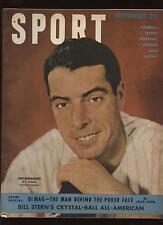 Sep 1949 Sport Magazine Joe DiMaggio Front Cover VGEX