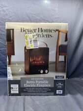 Better Homes & Gardens Electric Fireplace Portable Heater Walnut Finish 1500W