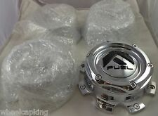 Fuel Wheels Chrome Custom Wheel Center Caps Set of 4 # 1004-08 / 1004-05