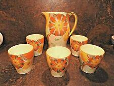 More details for gray's pottery lemonade set jug five beakers hand painted c1932